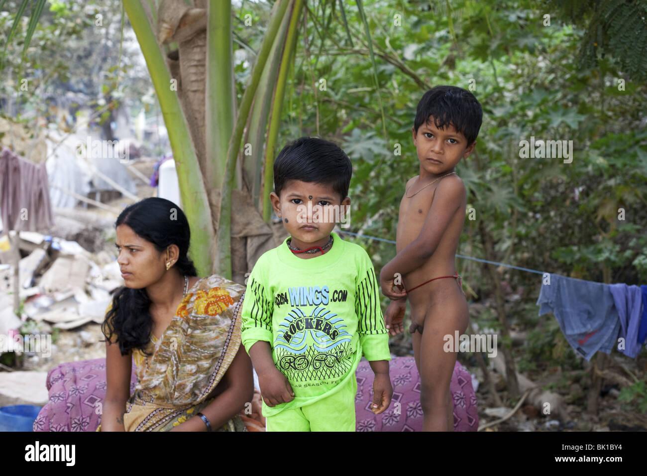 Niños de la India Imagen De Stock