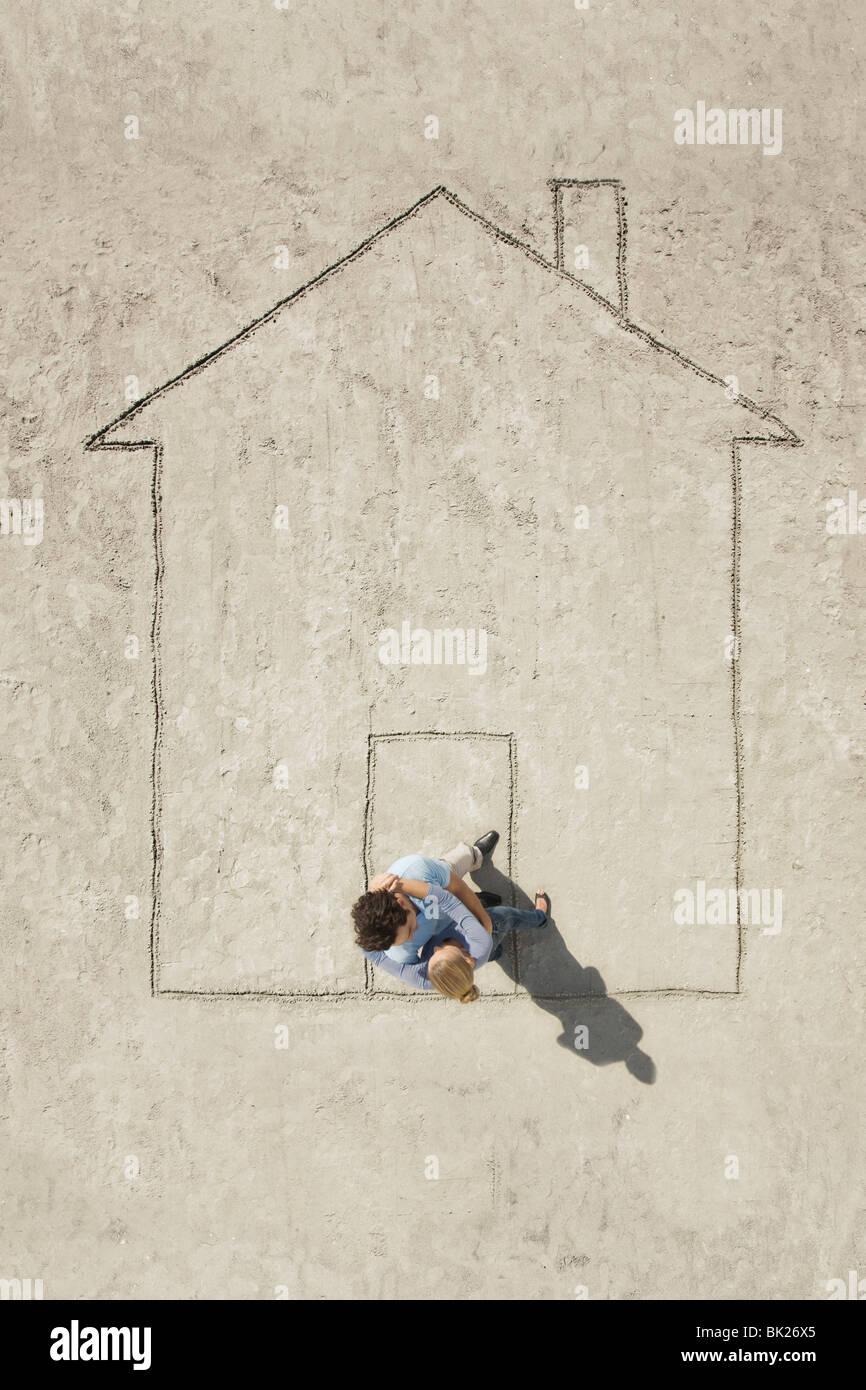 Una casa Imagen De Stock