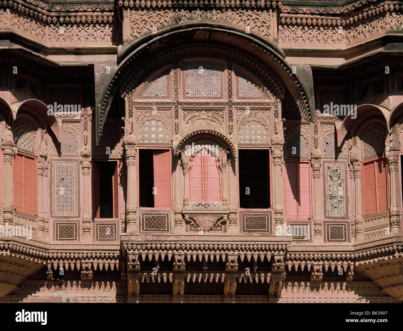 Windows, Jodhpur fort, Rajastán, India, Asia Imagen De Stock