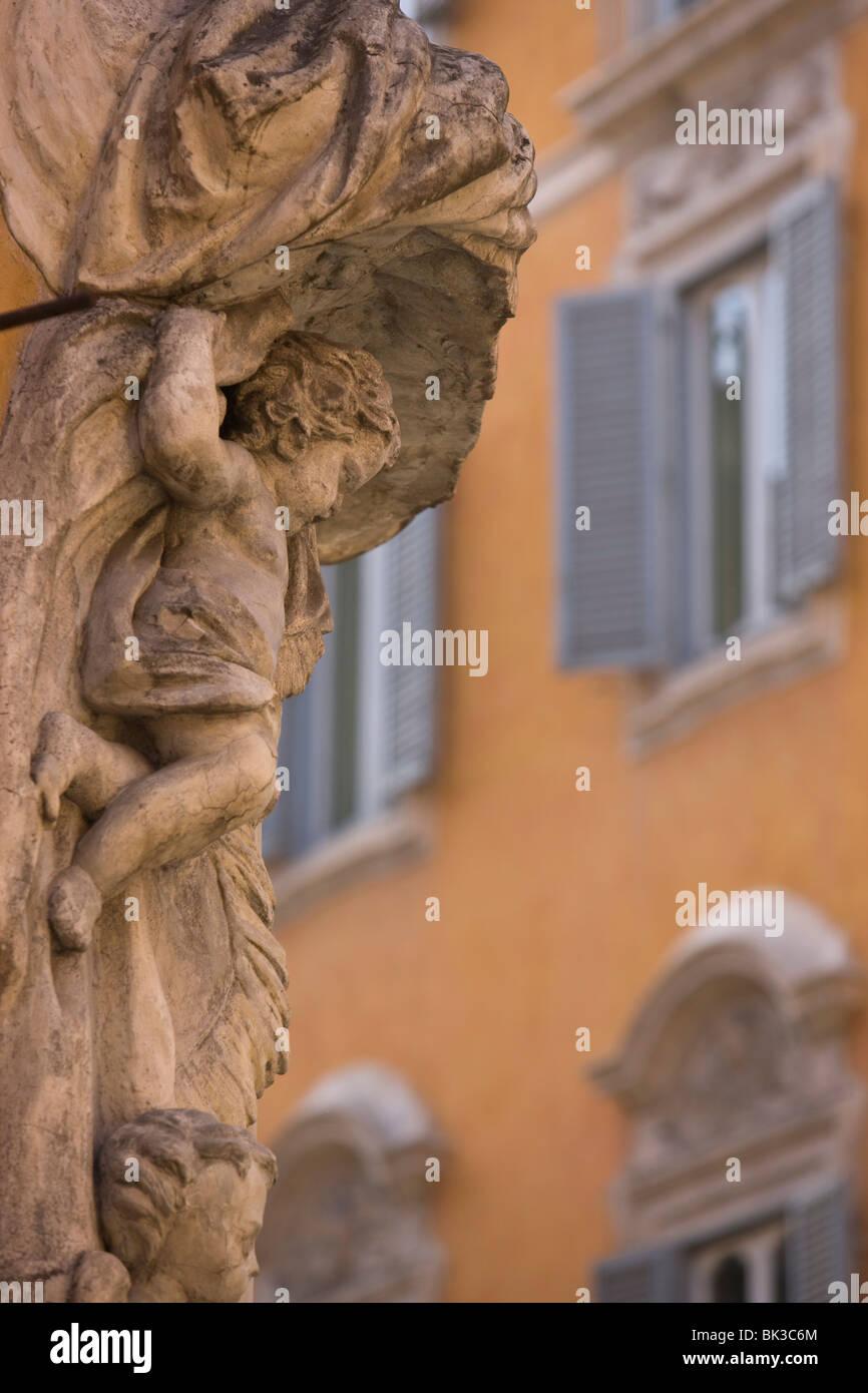 Estatua, Roma, Lazio, Italia, Europa Imagen De Stock