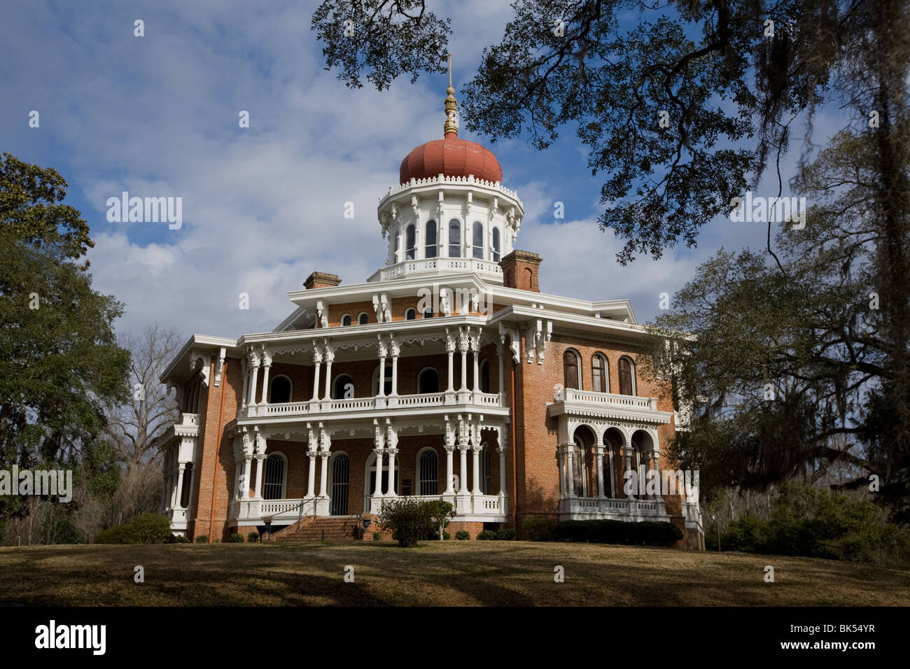 Mansión de Longwood, octogonal más grande en los EE.UU., hogar, plantación antebellum Natchez, Mississippi Imagen De Stock