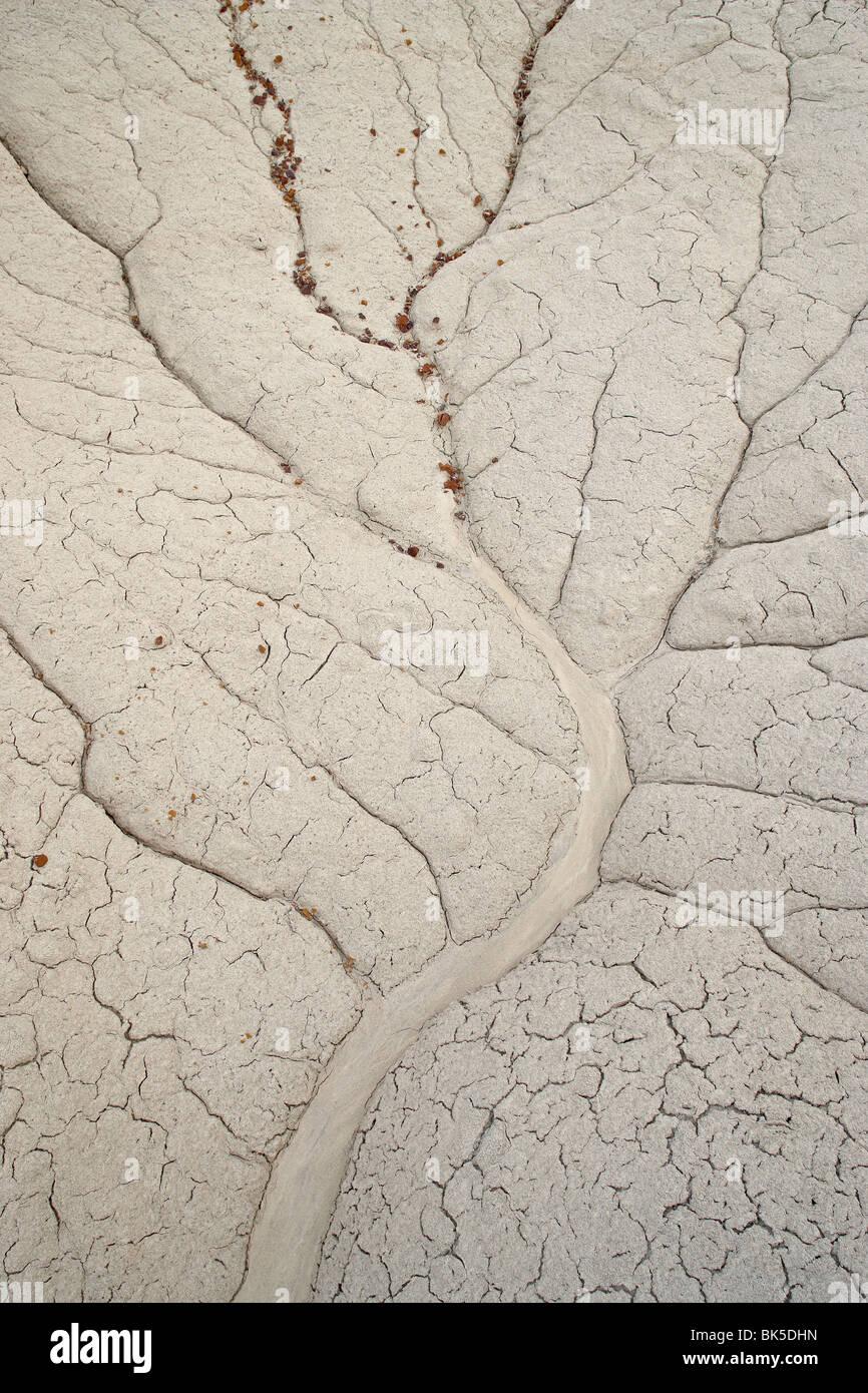 Los patrones de erosión en un pequeño drenaje, Bisti Desierto, Nuevo México, Estados Unidos de América, Imagen De Stock