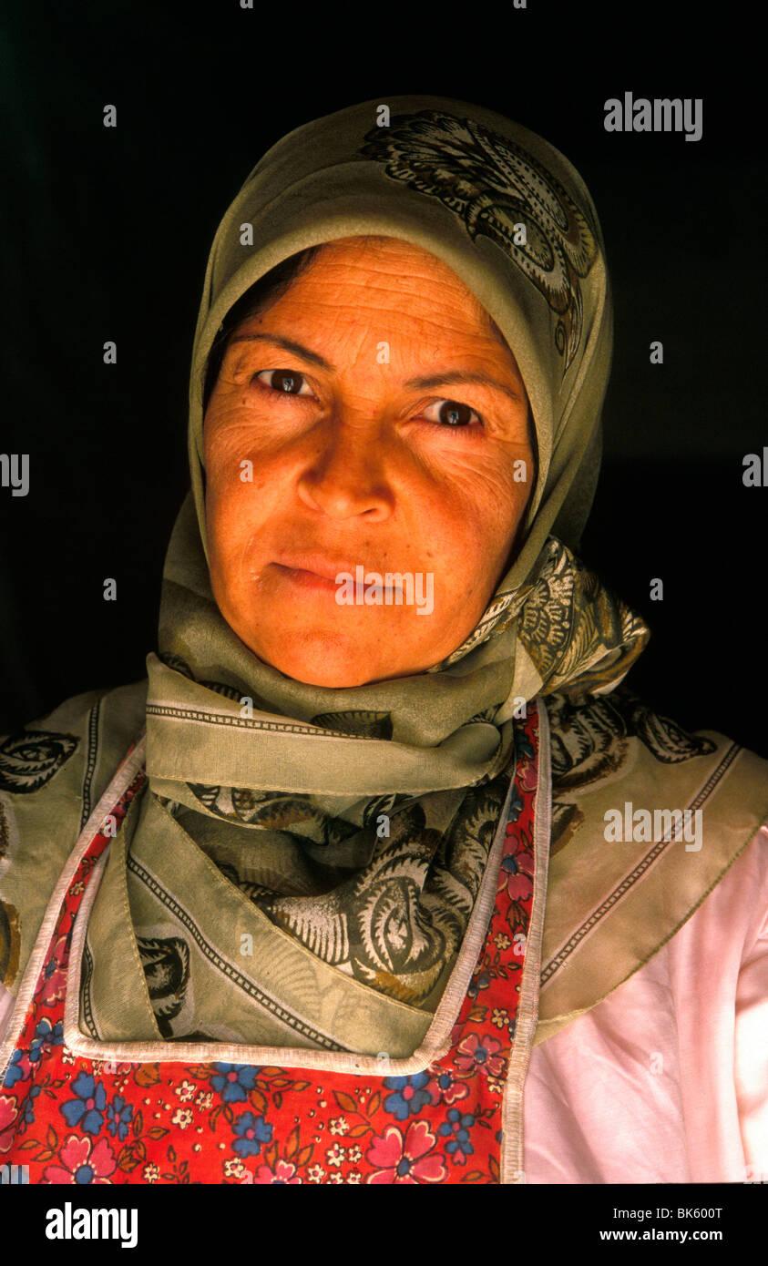 Mujer libanesa, la Bekaa, en el Líbano, Oriente Medio Imagen De Stock