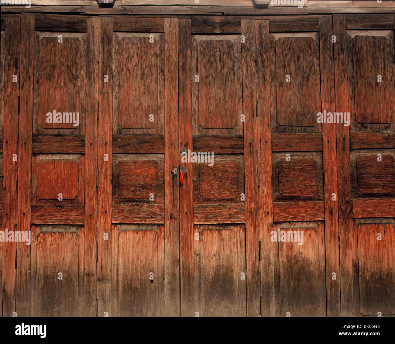 Paneles de madera Imagen De Stock