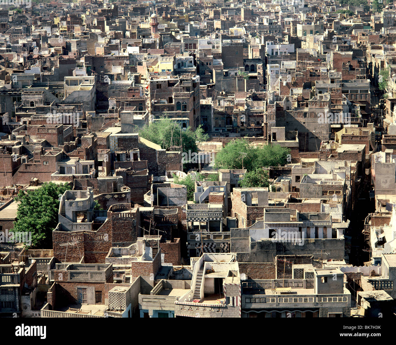 Casas de Vieja Delhi, India, Asia Imagen De Stock