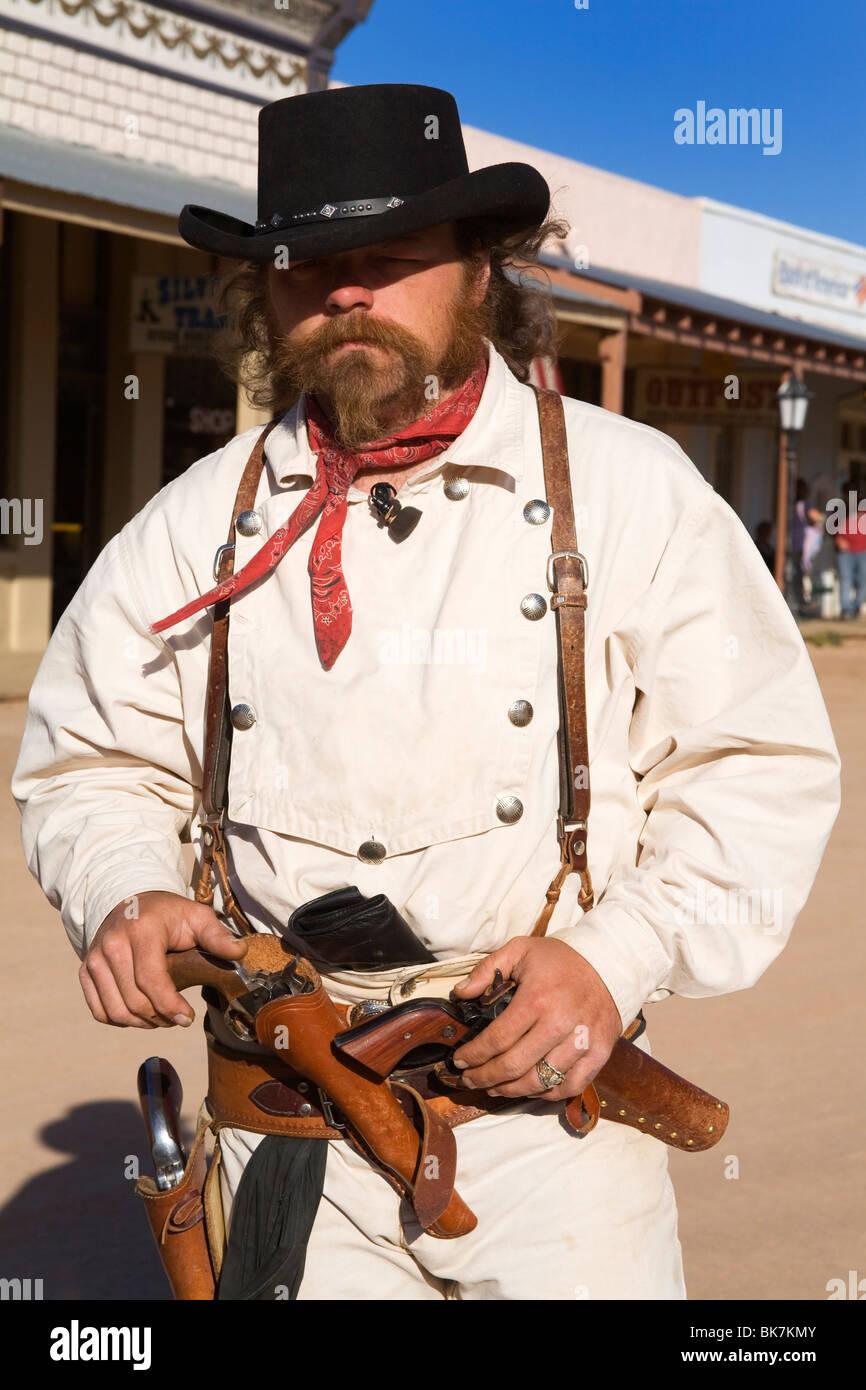 Actor Cowboy, Tombstone, Condado de Cochise, Arizona, Estados Unidos de América, América del Norte Imagen De Stock