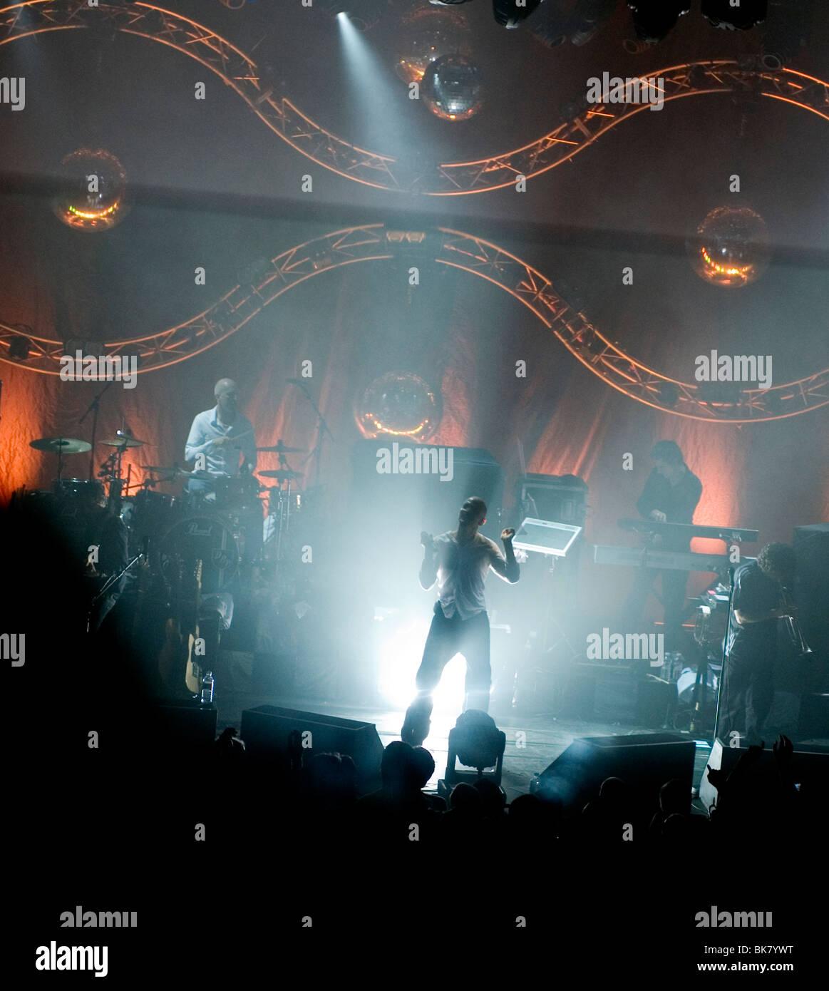 La banda JAMES ( sentarse, ella es una estrella ) después de 5 años de separación vuelven a viajar Imagen De Stock
