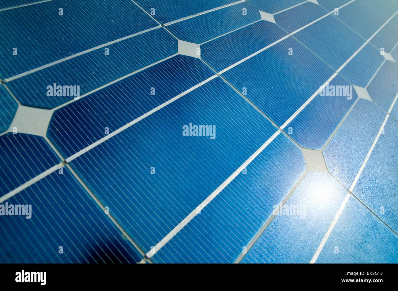 Detalle del panel solar Imagen De Stock