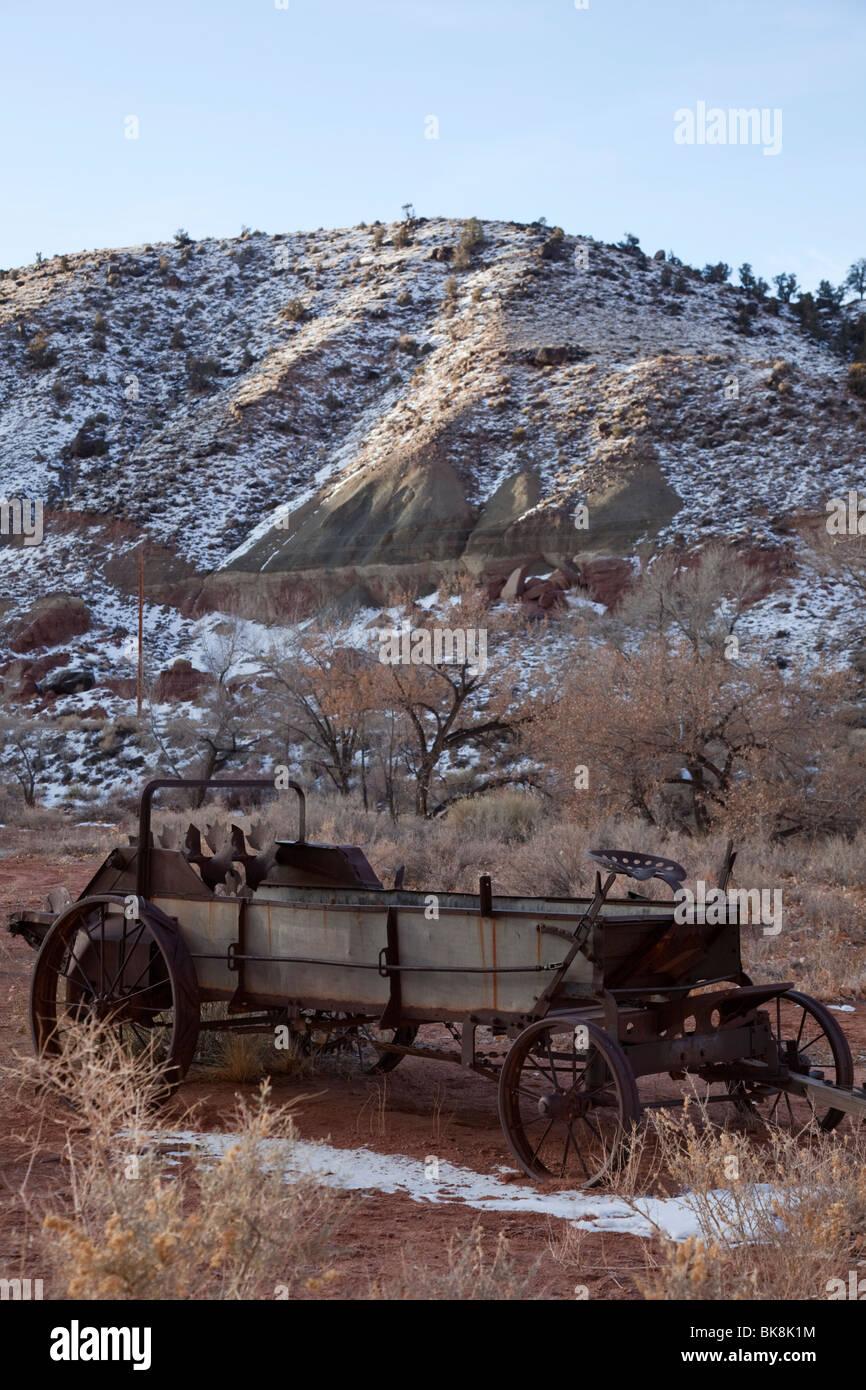 Automóviles antiguos en el Parque Nacional Capitol Reef, Utah Imagen De Stock