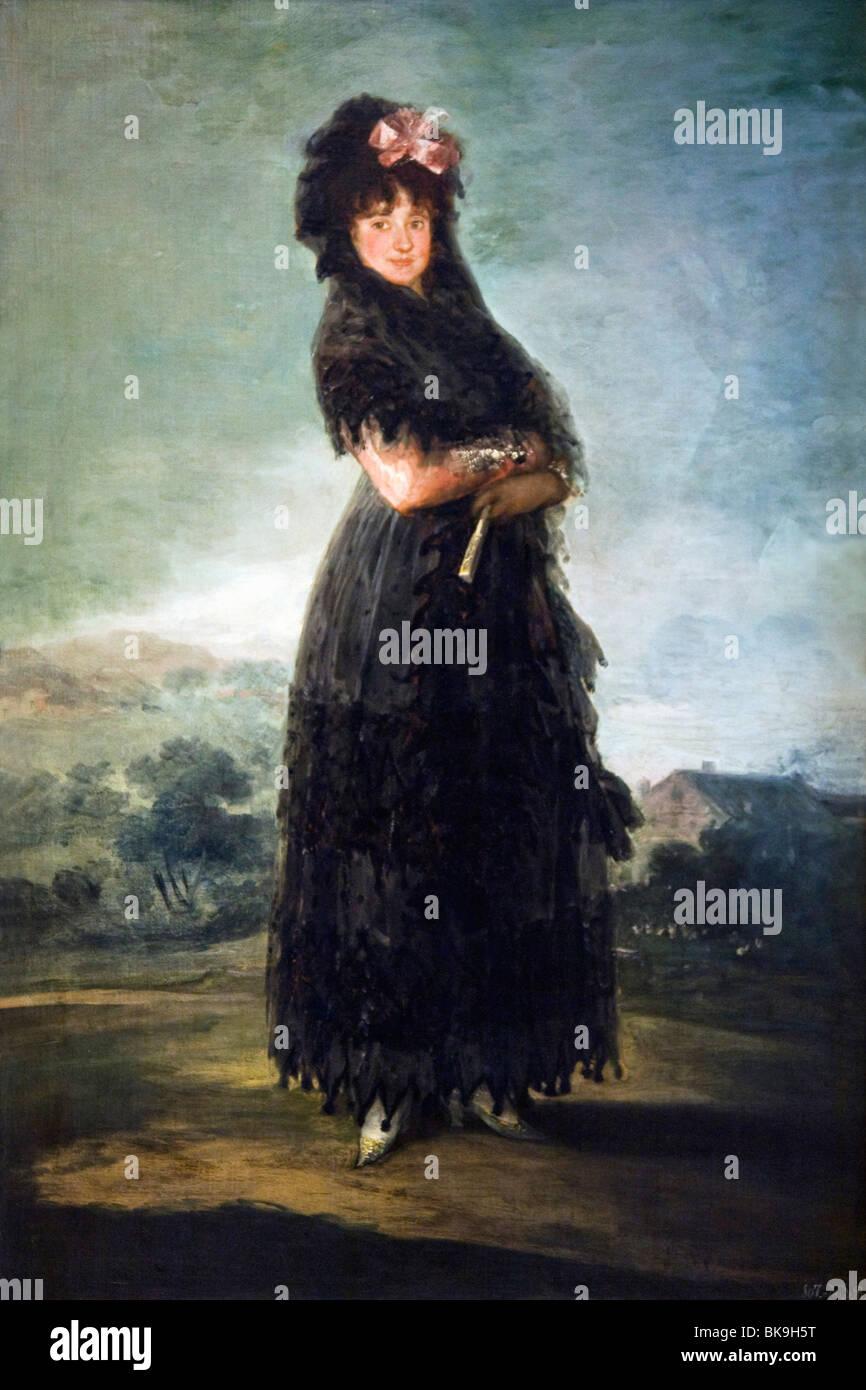 Retrato de Mariana Waldstein por Francisco de Goya y Lucientes, óleo sobre lienzo, 1810, Francia, París, Musée du Foto de stock
