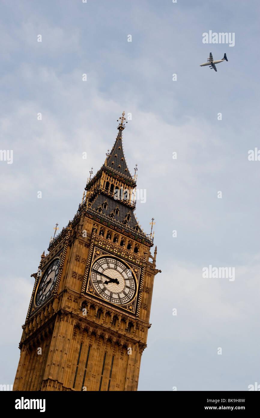 El Big Ben. Londres. Inglaterra. En el Reino Unido. Foto de stock