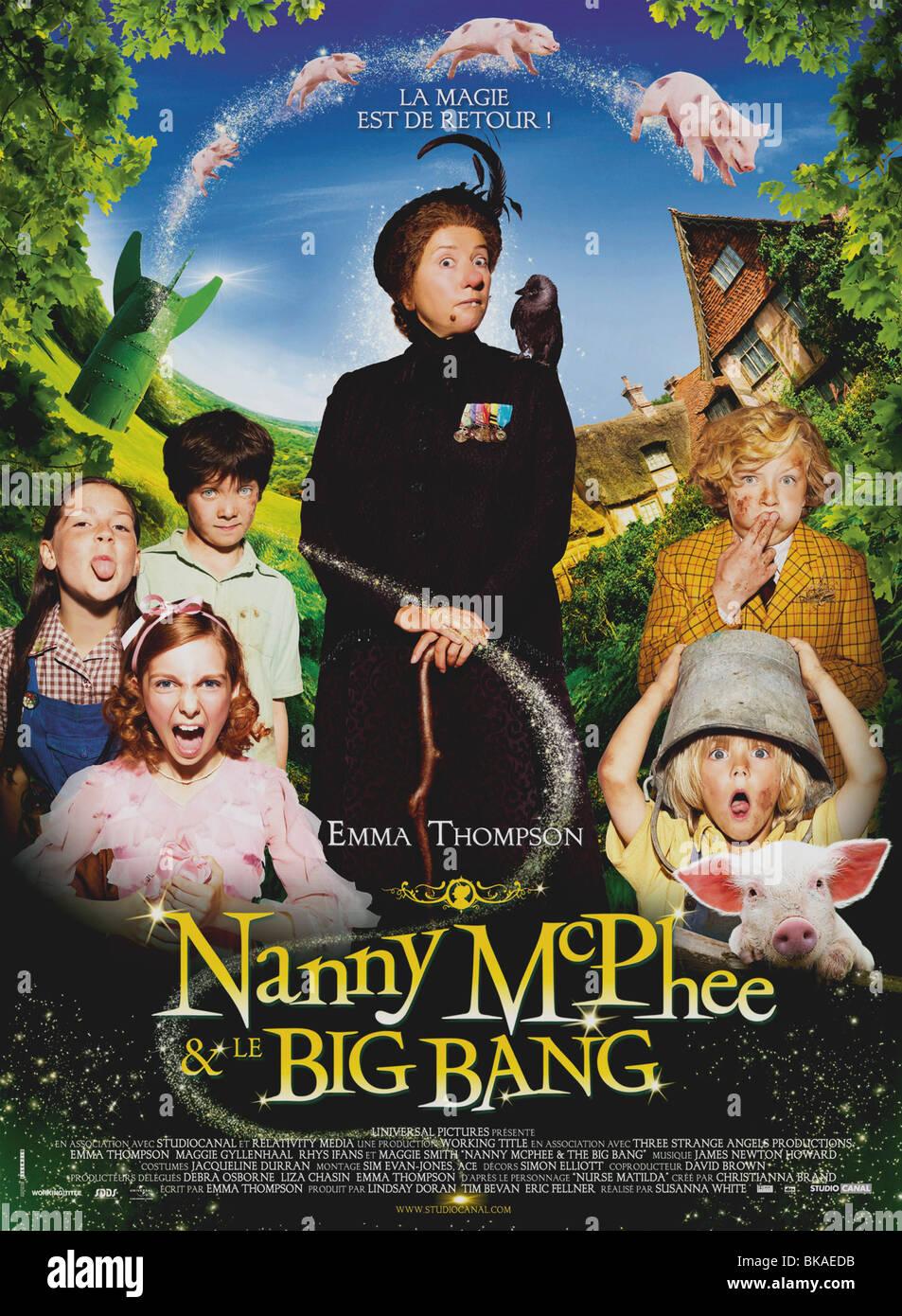 Nanny McPhee y el Big Bang Año : 2010 UK / USA Director: Susanna White Emma Thompson póster de película Imagen De Stock