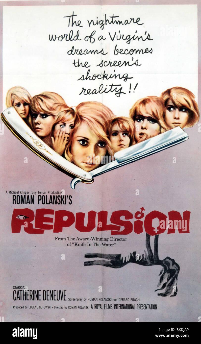 Repulsión póster -1965 Imagen De Stock