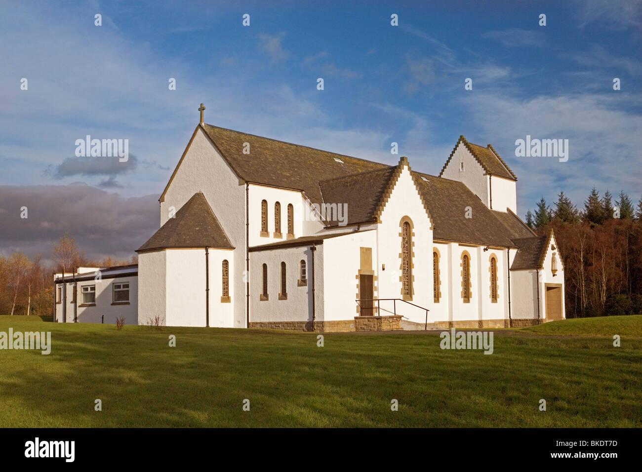 Iglesia católica del Santo Nombre, Oakley cerca de Dunfermline. Foto de stock