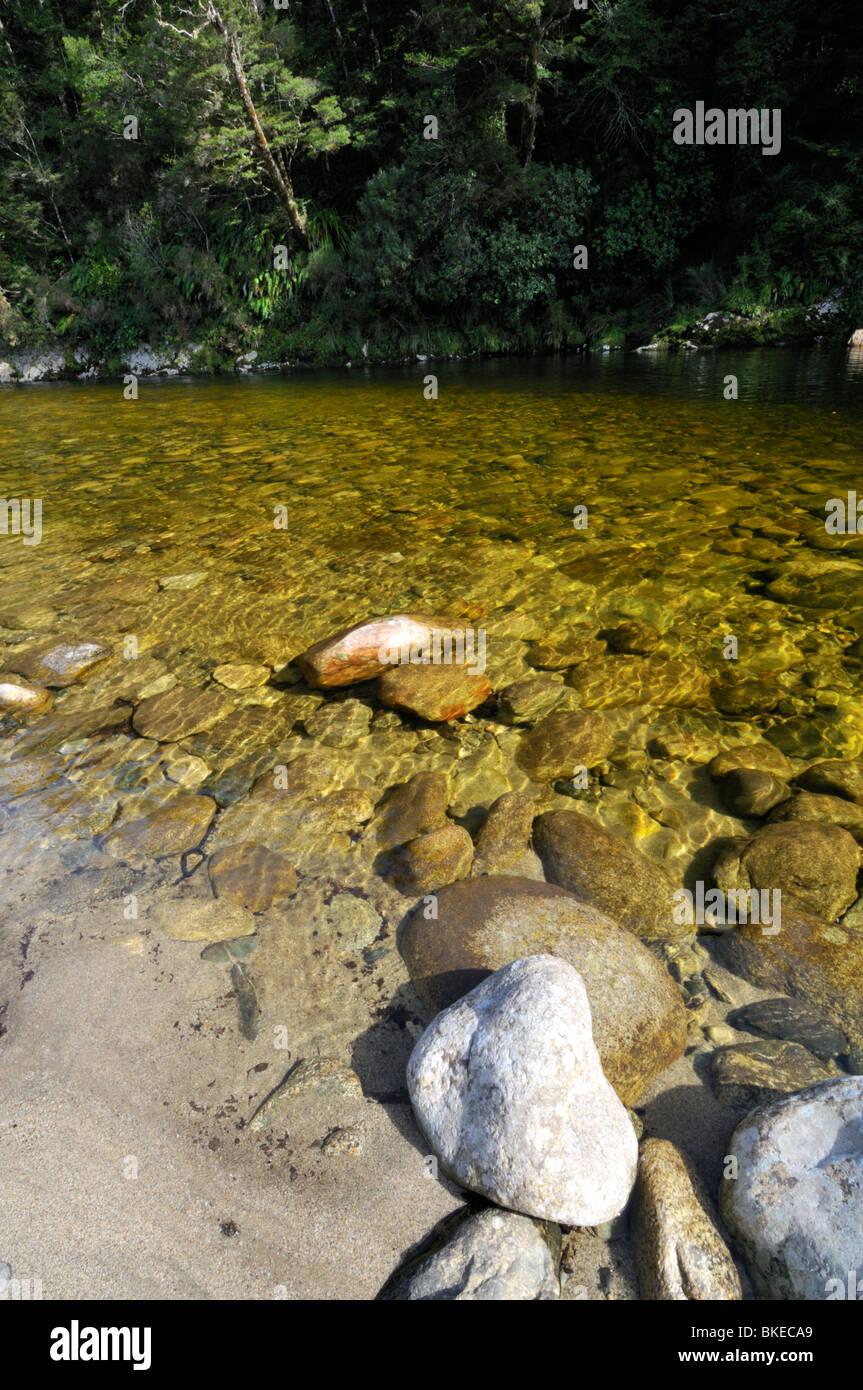 Río Inangahua, Buller, Costa oeste, Nueva Zelanda. Foto de stock