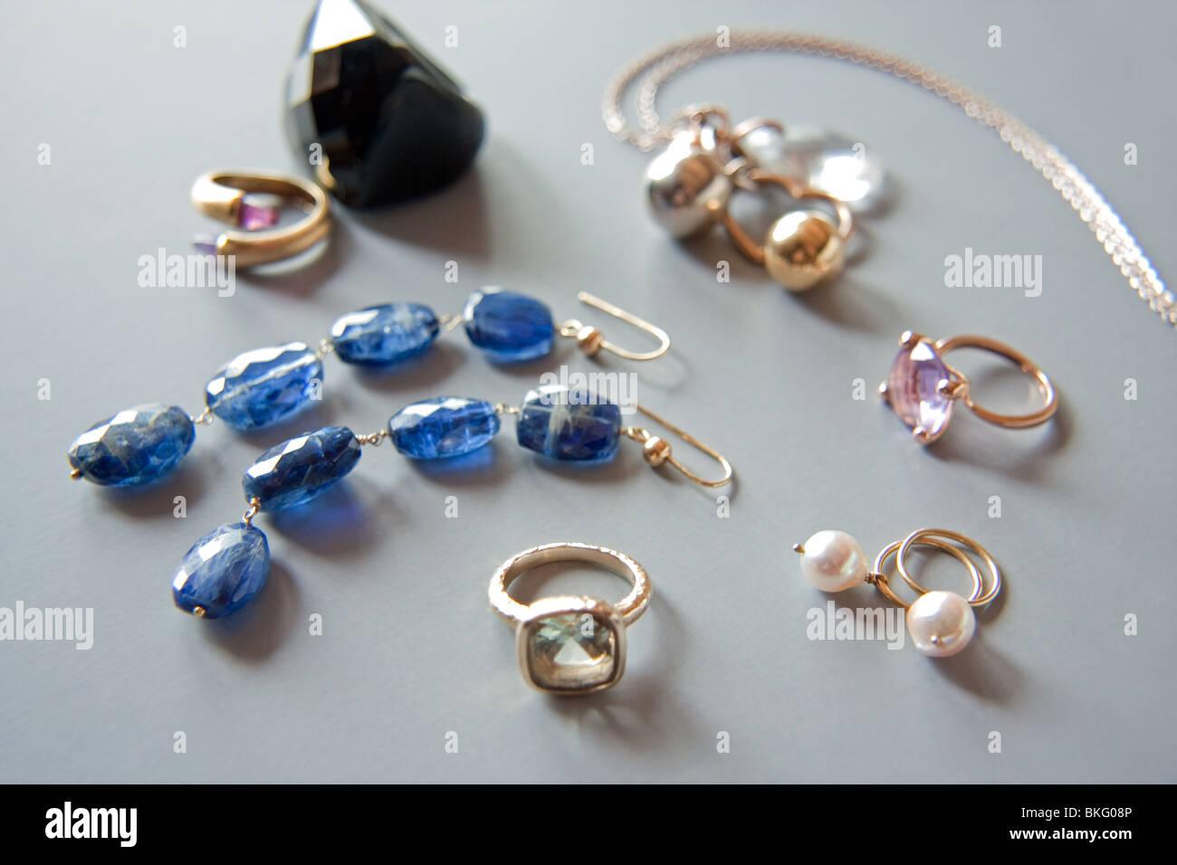 Varias joyas Foto de stock