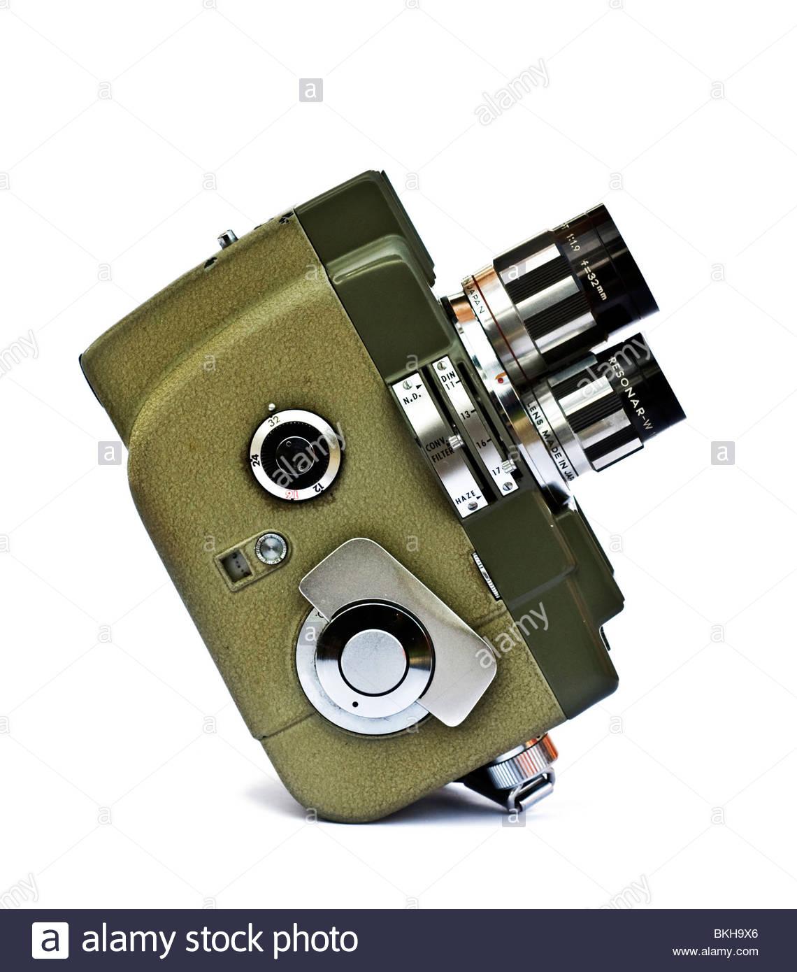 Retro 8mm cámara de cine cine Imagen De Stock