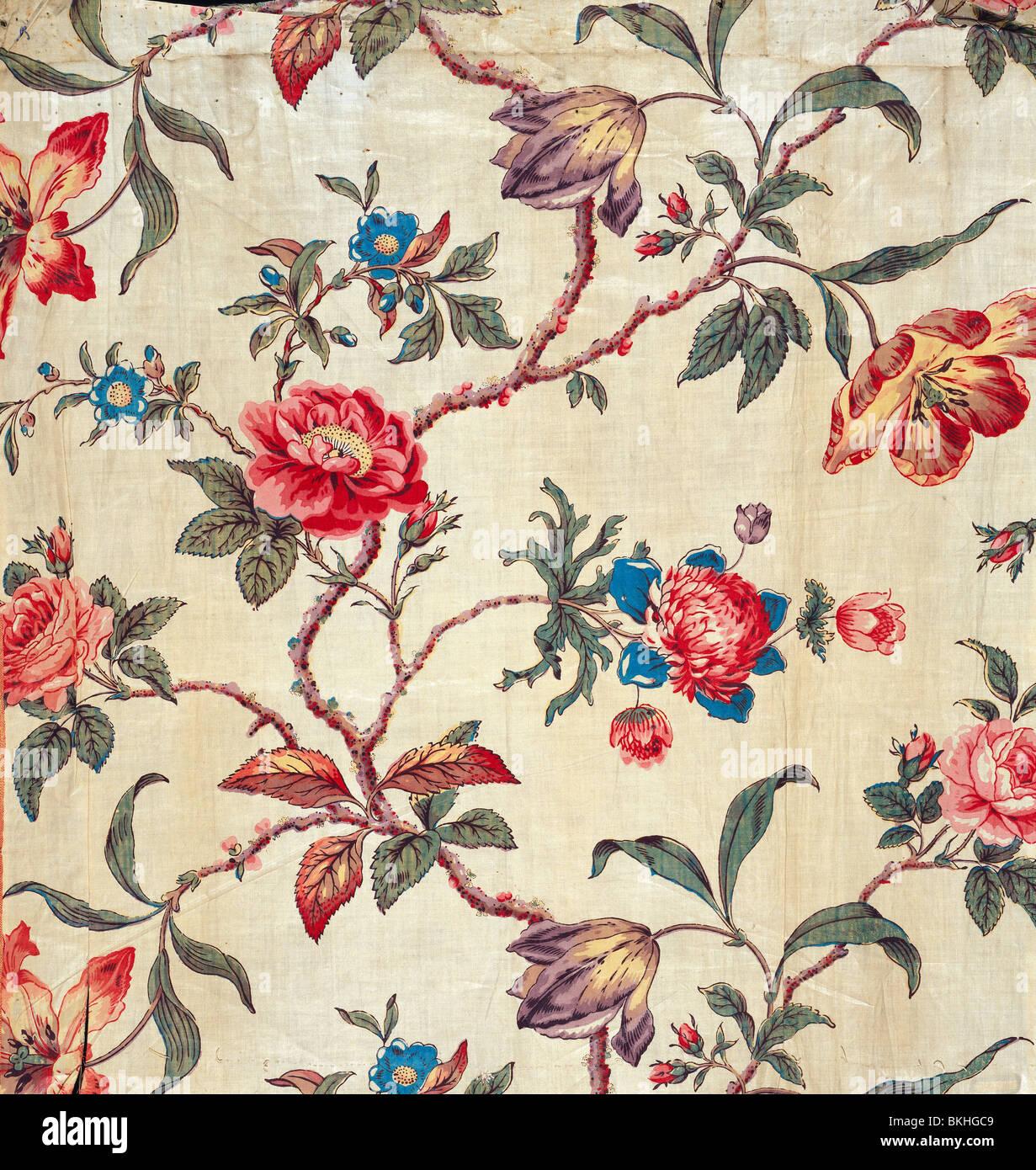 Patrón floral. Inglaterra, de mediados del siglo XIX. Imagen De Stock