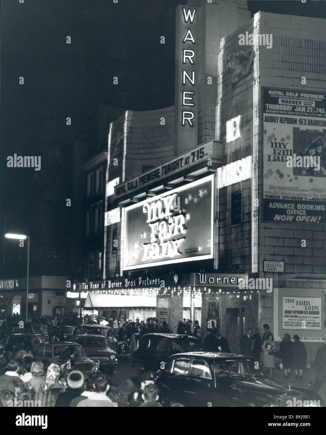 Cine WARNER (Londres) 1965 Imagen De Stock