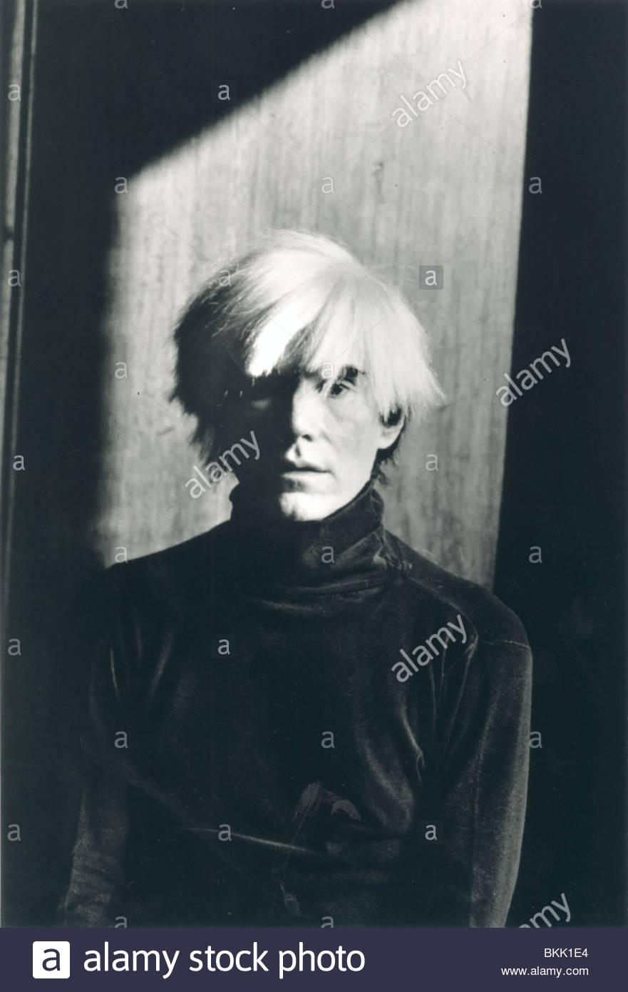 Retrato de Andy Warhol Imagen De Stock