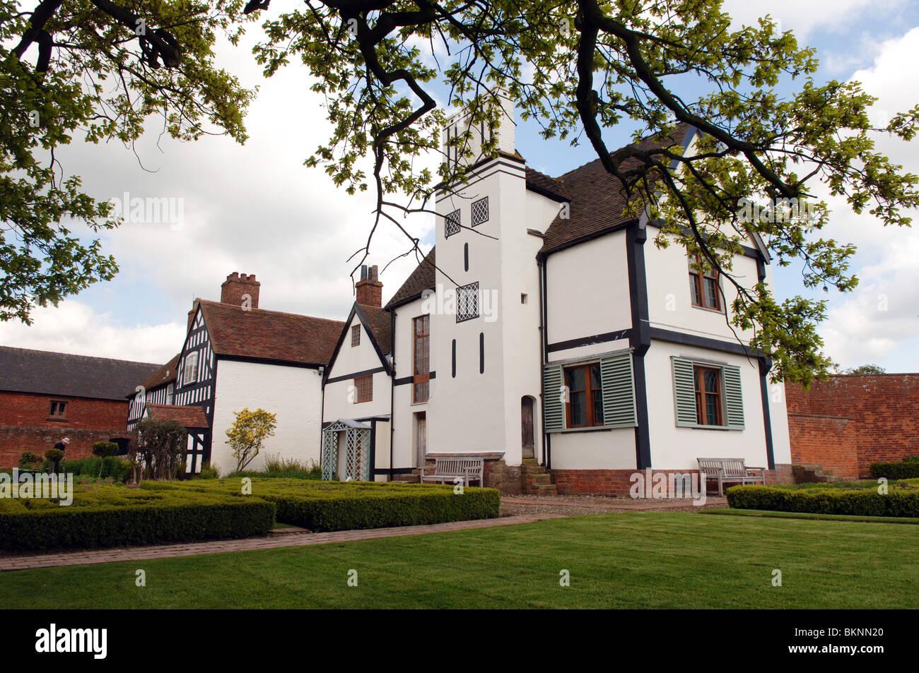Boscobel House en la frontera Stafforshire y Shropshire Inglaterra Foto de stock