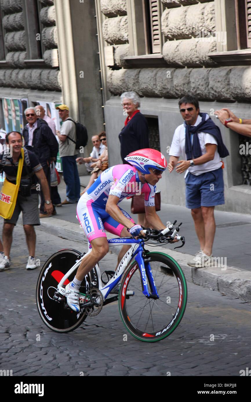 Damiano Cunego Giro d'Italia, 21ª etapa contrarreloj de Roma Imagen De Stock