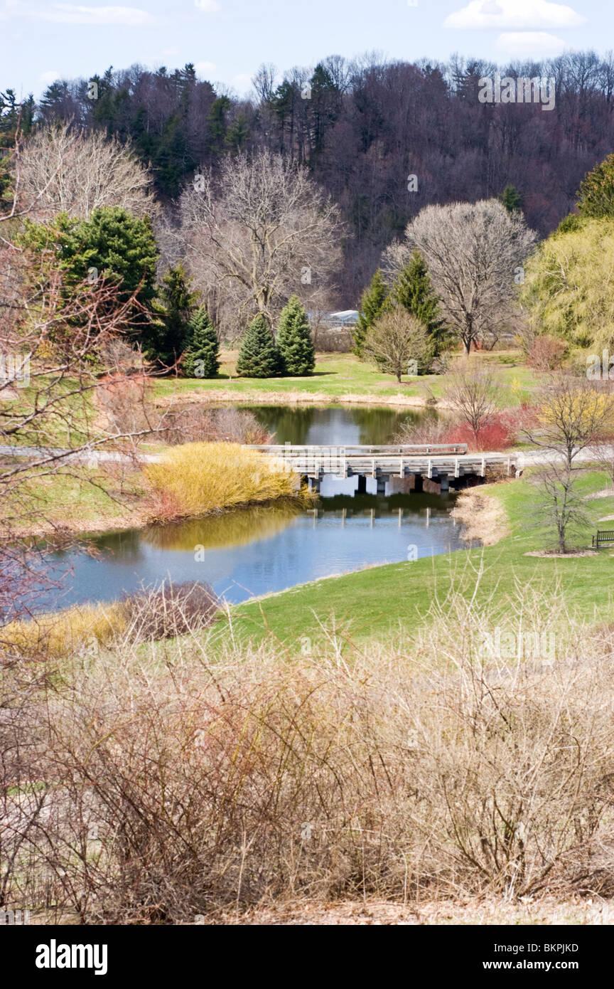 Plantaciones de Cornell en primavera, Ithaca, Nueva York, EE.UU. Imagen De Stock