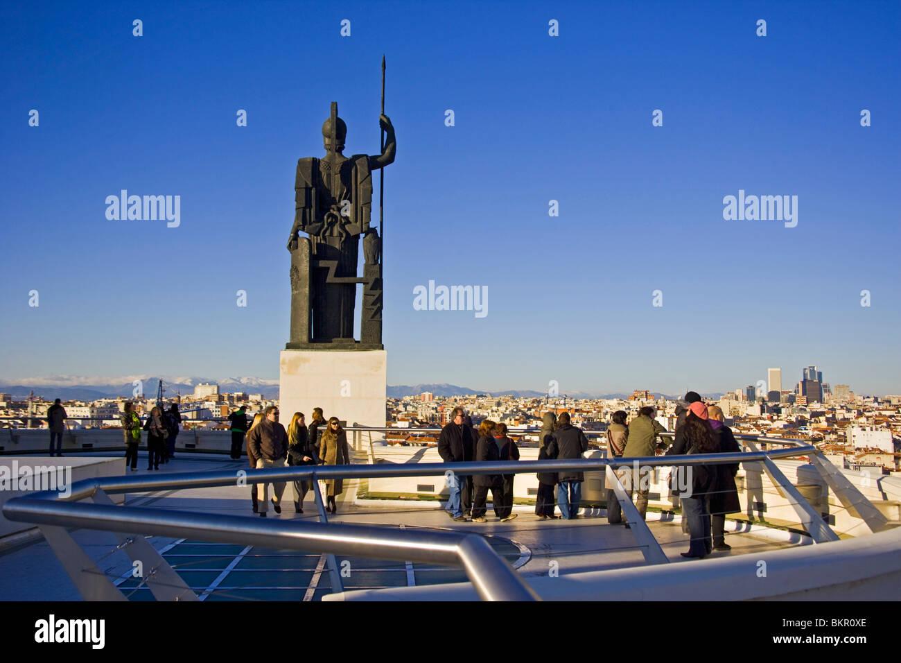 Vista De Madrid Desde La Azotea Del Círculo De Bellas Artes