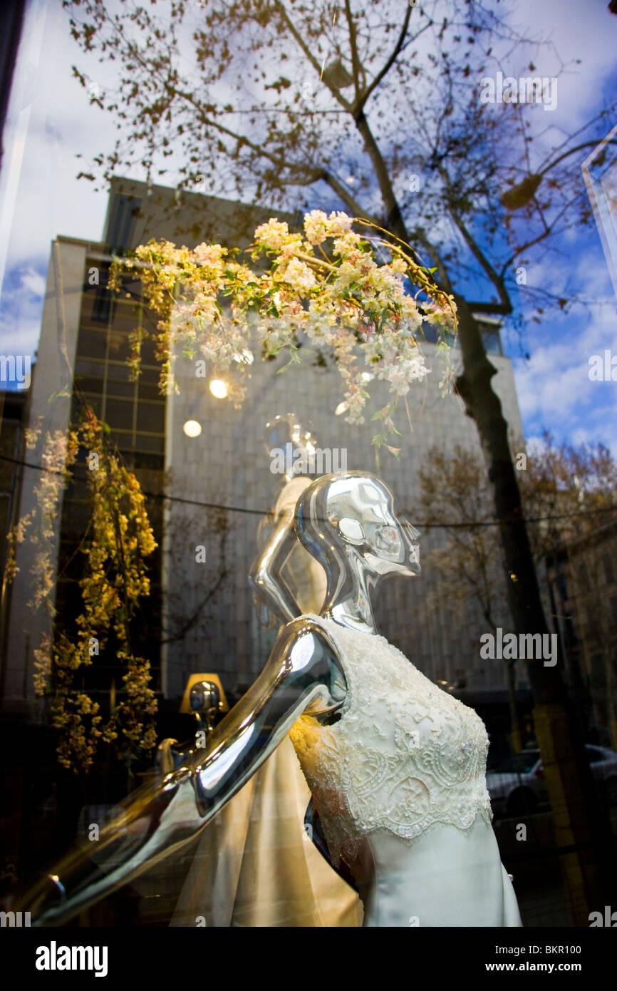 Tienda en la zona de Serrano, Madrid el primer fashion shopping street. España Foto de stock