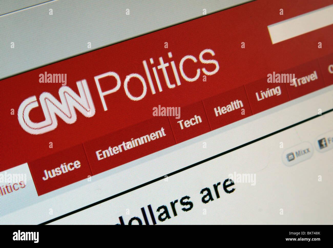 El ángulo de cierre de captura de pantalla de la página de Política del sitio web de la CNN. En abril Imagen De Stock
