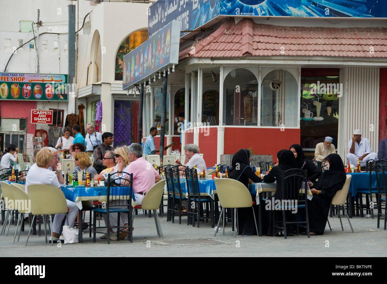 Cafetería Mutrah Muscat, Omán Imagen De Stock