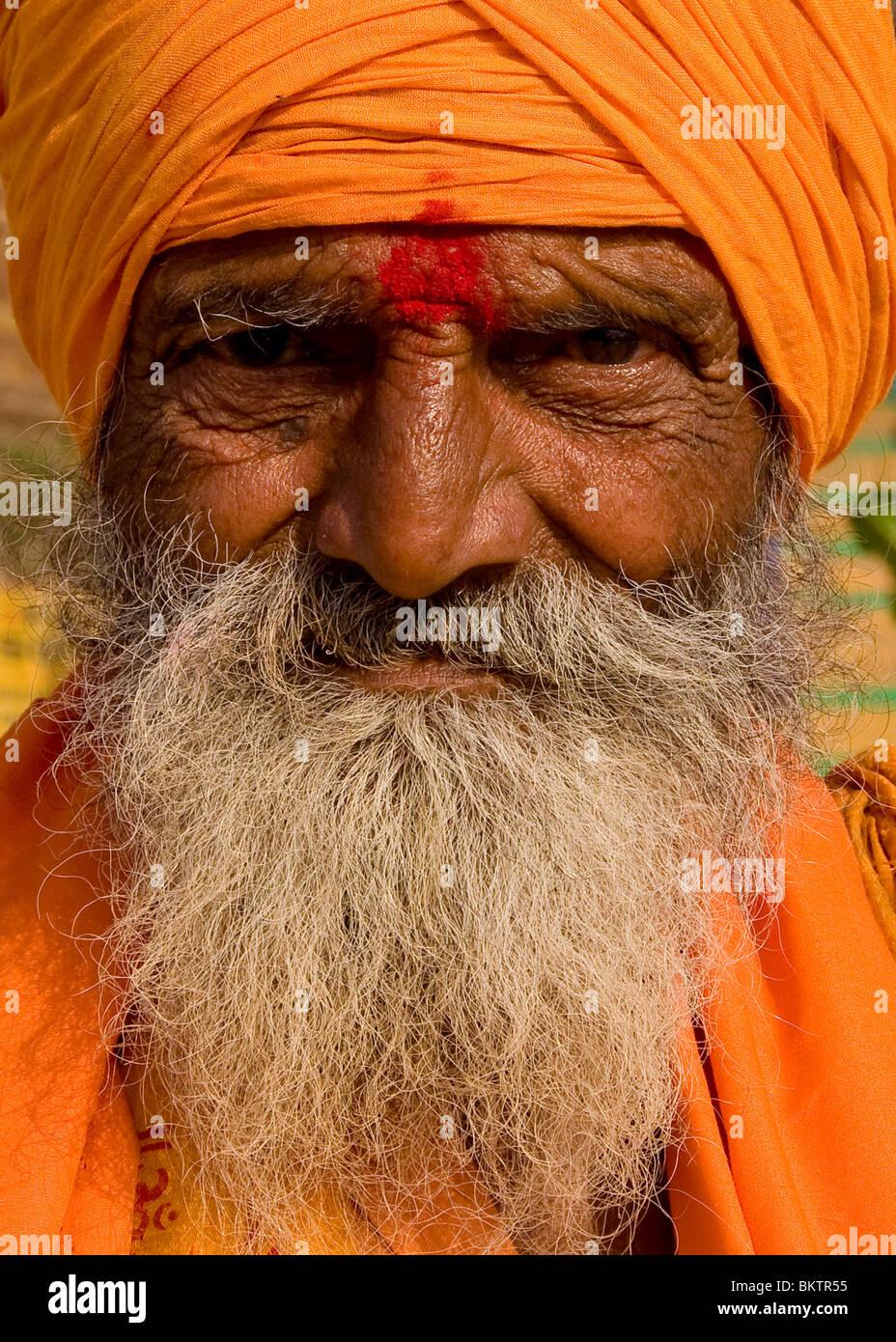 Hombre santo, Varanasi, India Imagen De Stock
