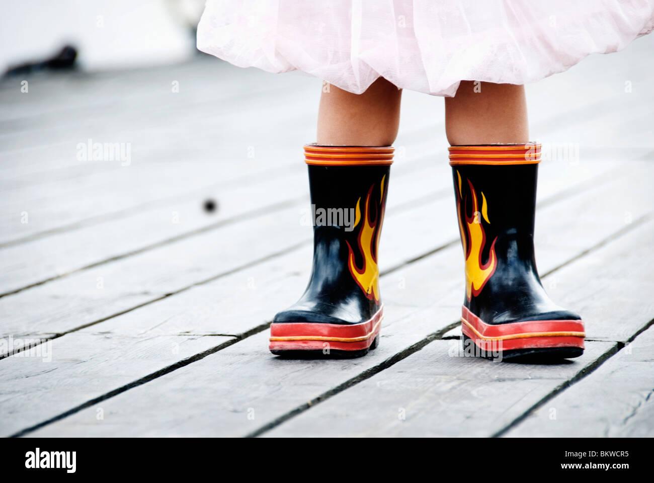 Cool botas de goma Imagen De Stock