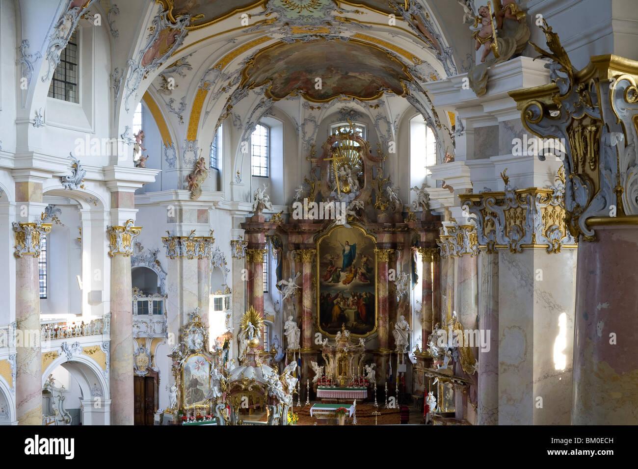 La iglesia de peregrinación de los catorce Santos, cerca de Bad Staffelstein Wallfahrtskirche Vierzehnheiligen, Imagen De Stock