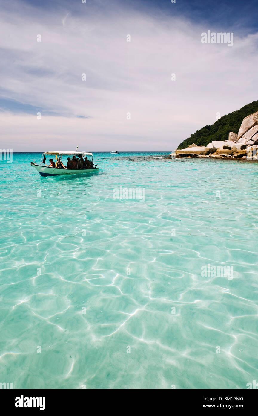 Viaje en barco en las islas Perhentian, Estado de Terengganu, Malasia, Sudeste Asiático, Asia Imagen De Stock