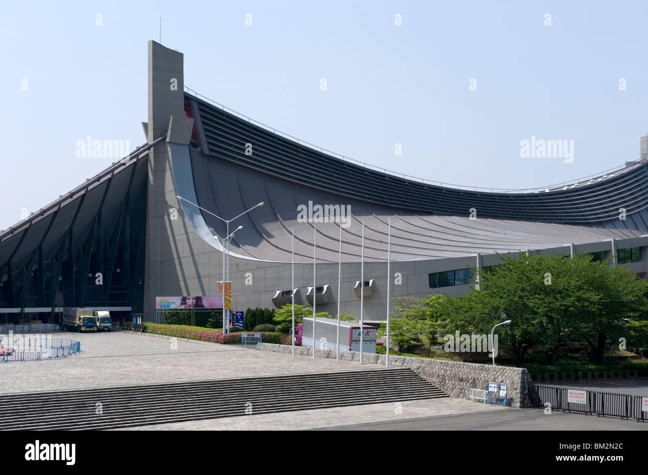Estadio Nacional Yoyogi en Shibuya, diseñado por el arquitecto Kenzo Tange para los Juegos Olímpicos de Verano de 1964, Tokio, Japón Foto de stock