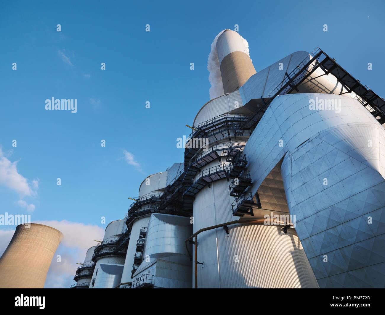 Planta de desulfuración en Power Station Imagen De Stock