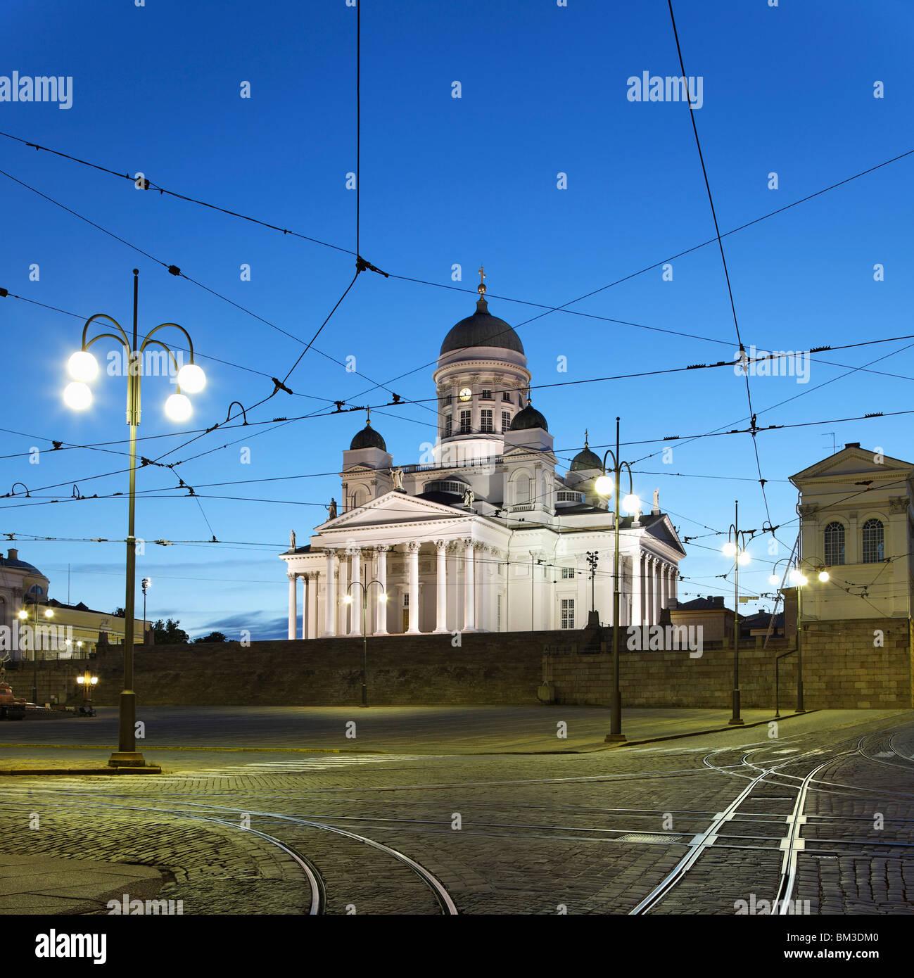 Catedral de Helsinki y la Plaza del Senado Imagen De Stock
