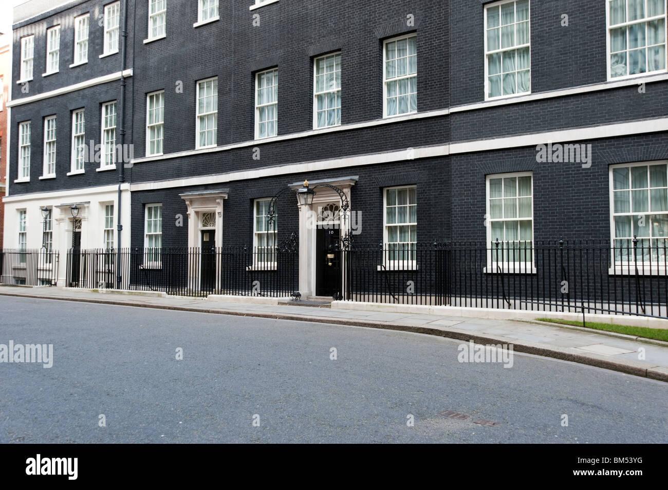 El 10 de Downing Street, Londres, Inglaterra, Reino Unido. Imagen De Stock