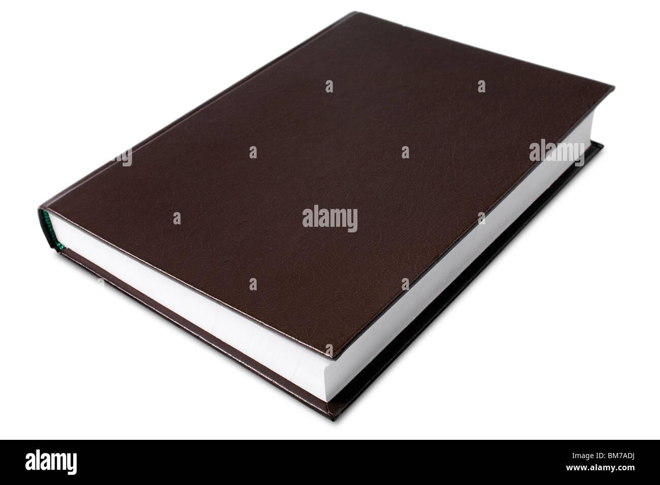 Un libro de tapa dura en blanco - con trazado de recorte Imagen De Stock