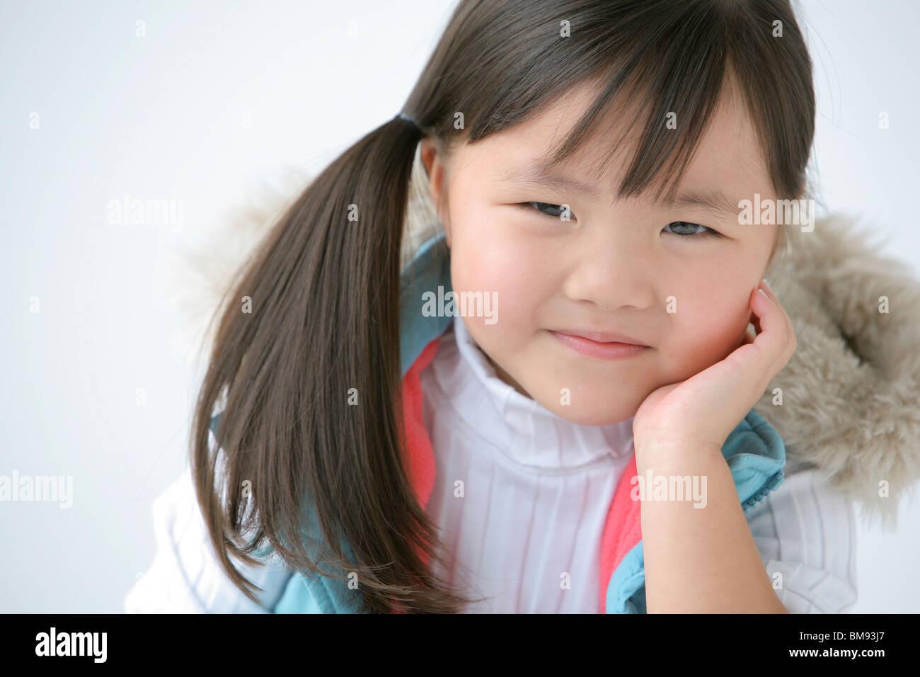 Retrato de una joven Foto de stock