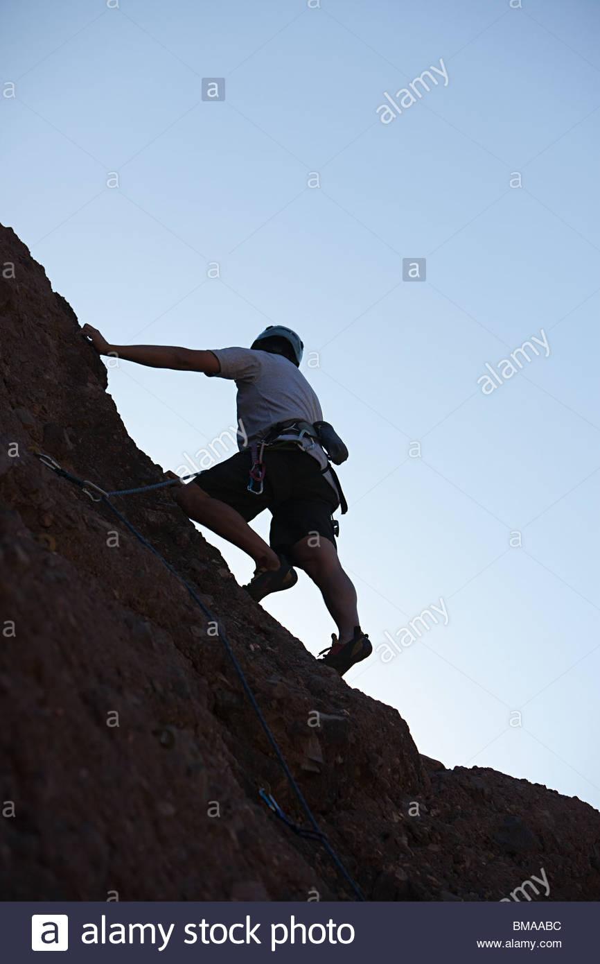 Escalador de roca Imagen De Stock