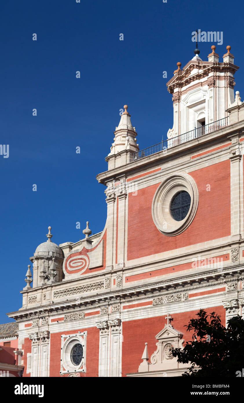 Detalle de la fachada de la iglesia del Salvador, Sevilla, España Imagen De Stock
