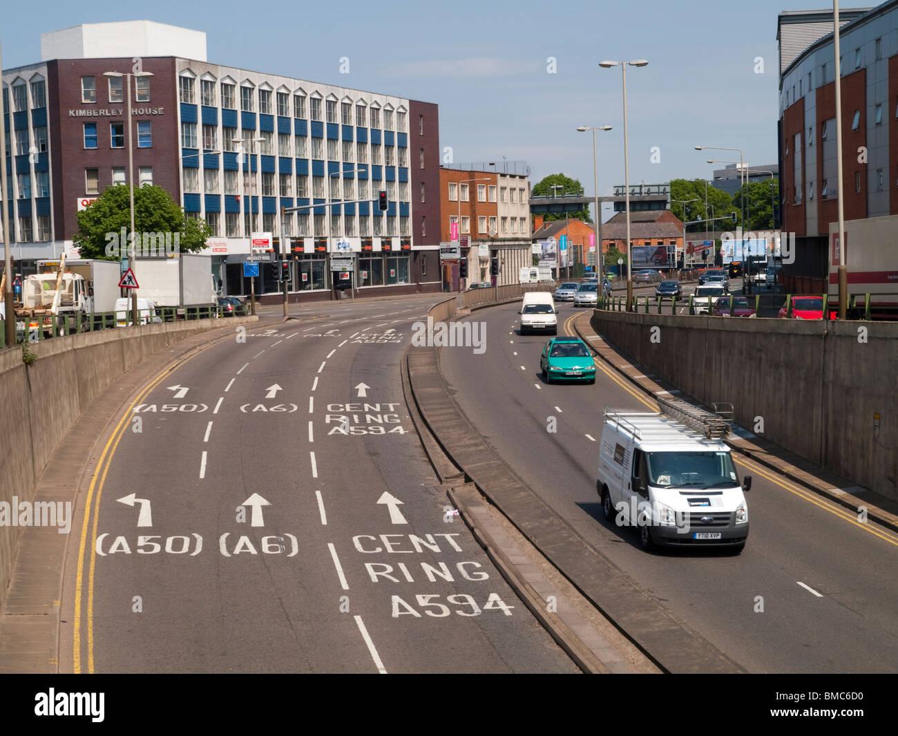 Vaughan forma en el centro de la ciudad de Leicester, Inglaterra Foto de stock