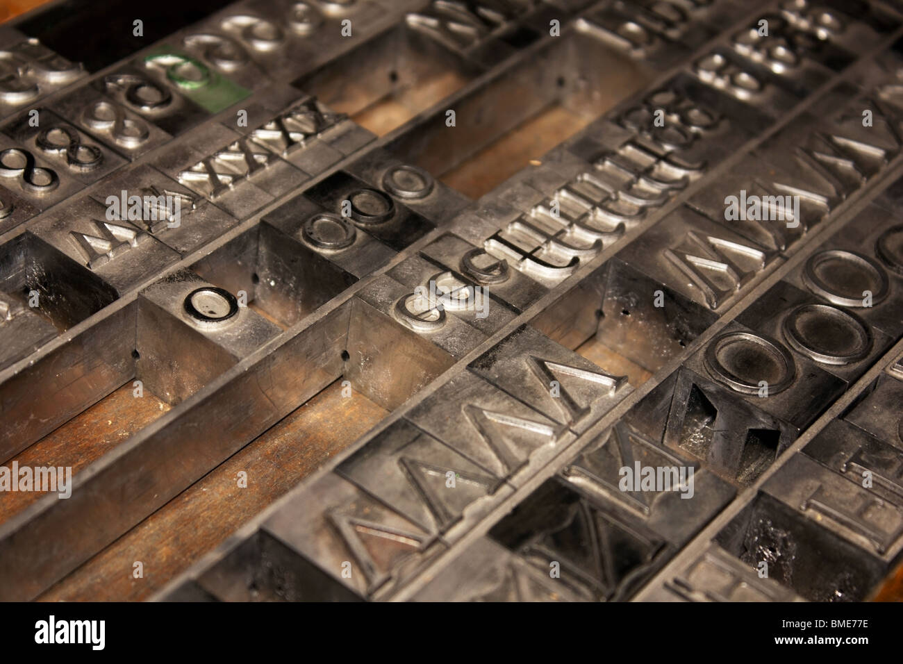 Conducir tipografía alfabeto Imagen De Stock