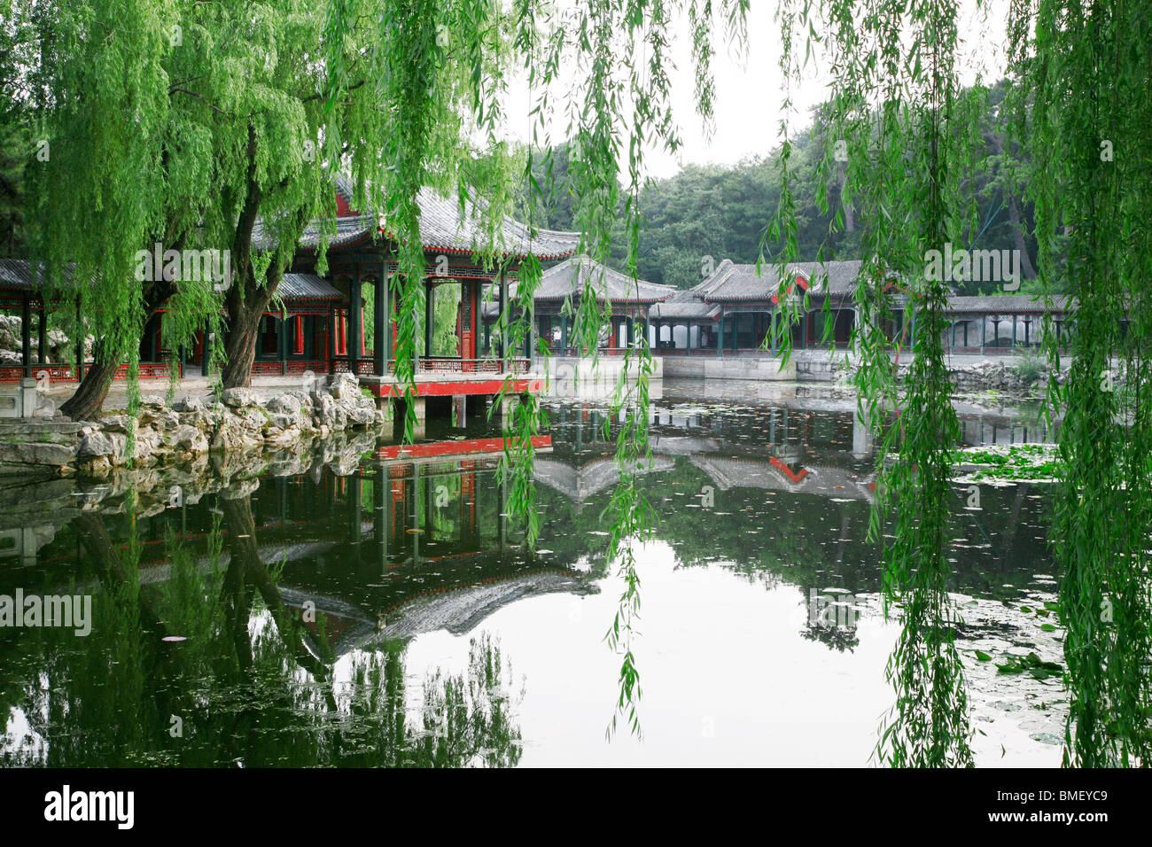Jardín de la armonía de intereses en el Palacio de Verano, Beijing, China Foto de stock