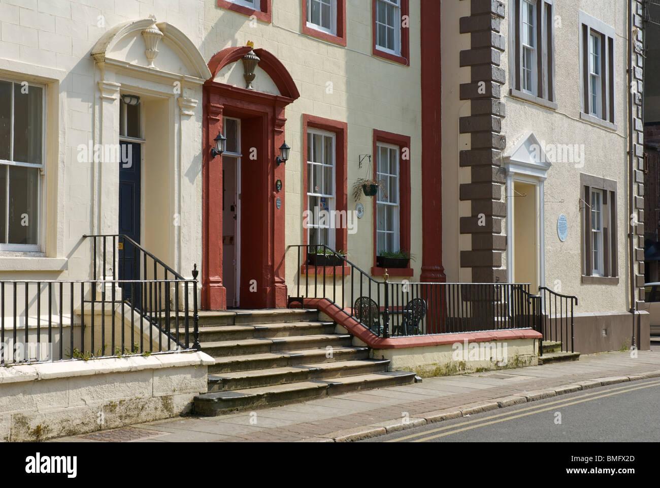 La arquitectura georgiana en Whitehaven, Cumbria, Inglaterra Imagen De Stock