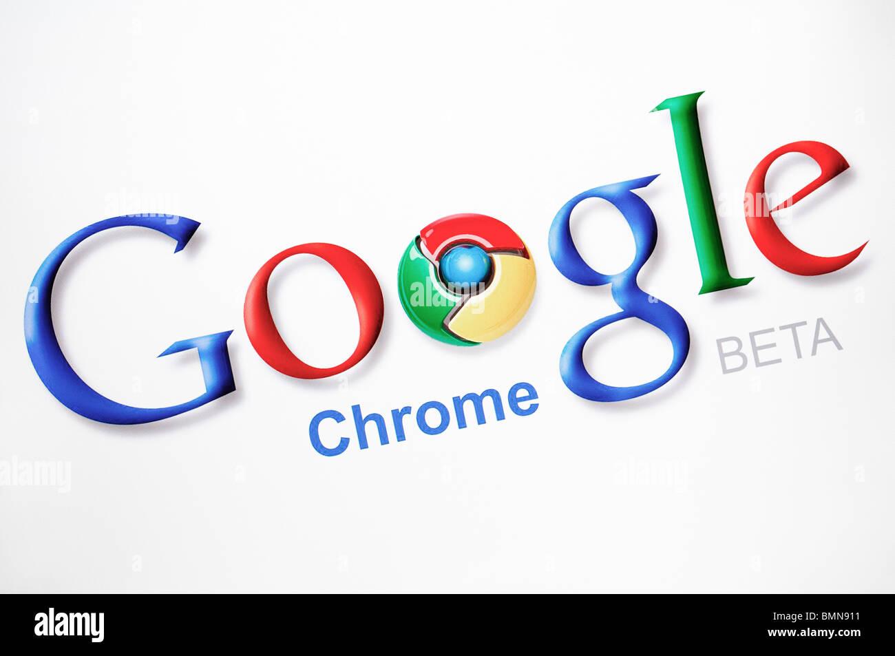 Captura de pantalla del navegador web Google Chrome Foto de stock