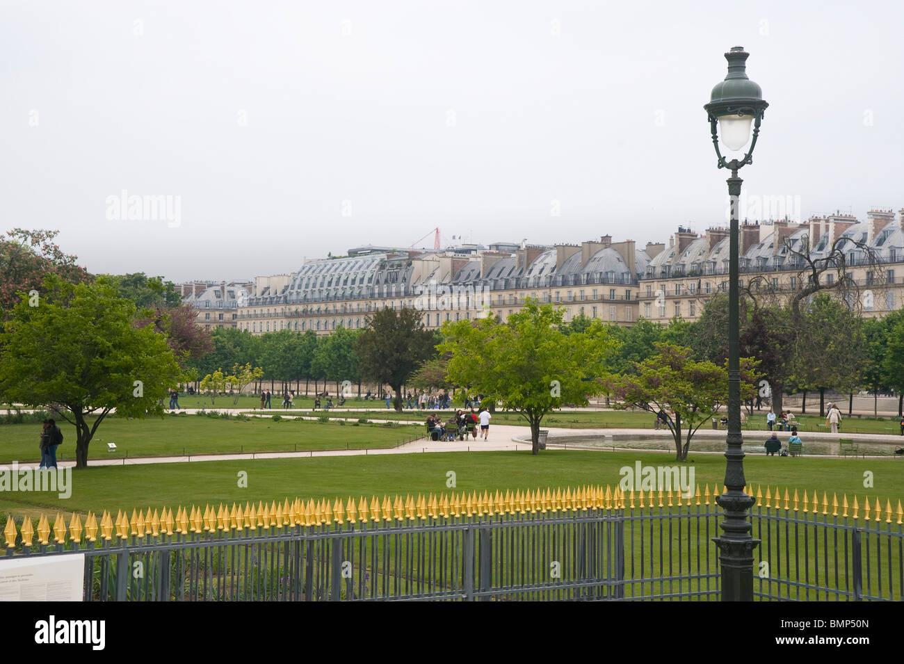 París, Jardin des Tuilleries Foto de stock