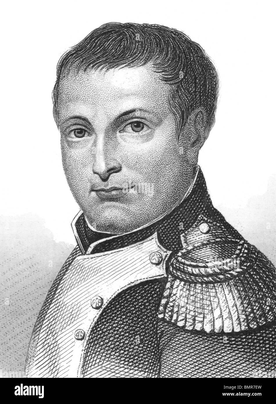 Napoleón Bonaparte (1769-1821) sobre el grabado desde los 1800s. El emperador de Francia. Uno de los individuos más brillantes de la historia. Foto de stock